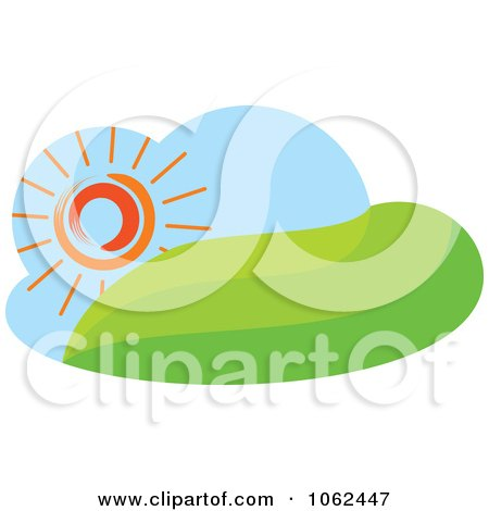 Clipart Spring Landscape Logo 1 - Royalty Free Vector Illustration by Vector Tradition SM