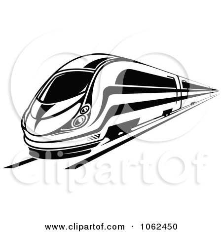 Clipart Subway Train In Black And White 6 - Royalty Free Vector Illustration by Vector Tradition SM