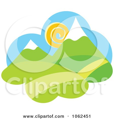 Clipart Spring Landscape Logo 5 - Royalty Free Vector Illustration by Vector Tradition SM