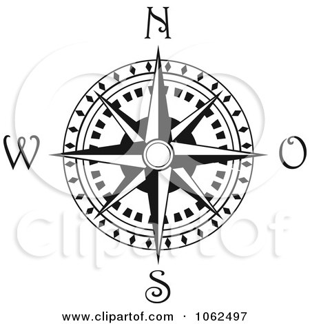 Compass Rose In Black And Compass Rose Clipart Black And White