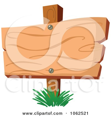 Clipart Posterd Wood Sign - Royalty Free Vector Illustration by yayayoyo
