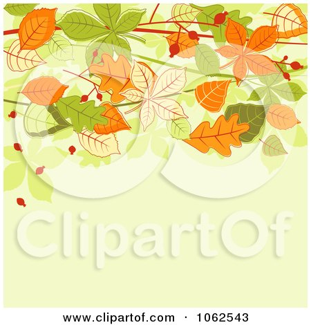 Clipart Autumn Background 7 - Royalty Free Vector Clip Art Illustration by Vector Tradition SM