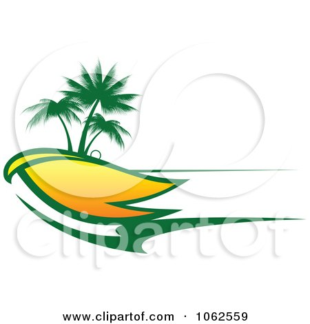 Clipart Palm Tree Island 8 - Royalty Free Vector Clip Art Illustration by Vector Tradition SM