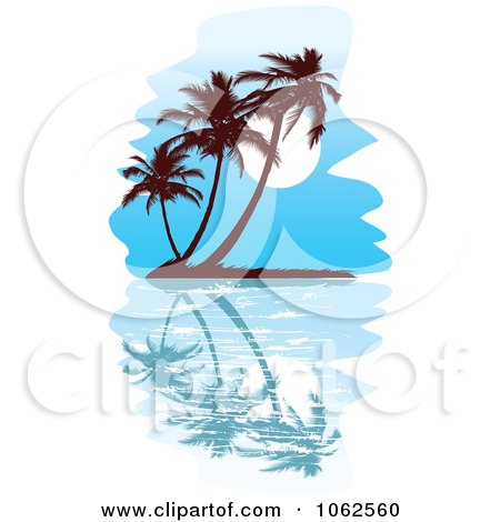 Clipart Palm Tree Island 7 - Royalty Free Vector Clip Art Illustration by Vector Tradition SM