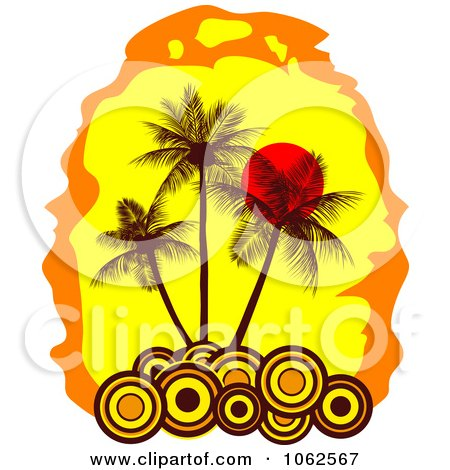 Clipart Palm Tree Island 10 - Royalty Free Vector Clip Art Illustration by Vector Tradition SM
