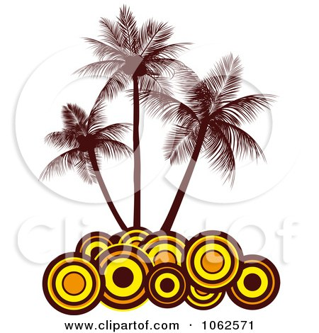 Clipart Palm Tree Island 6 - Royalty Free Vector Clip Art Illustration by Vector Tradition SM