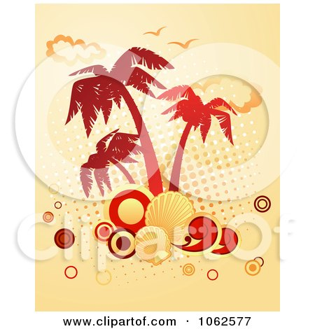 Clipart Palm Tree Island 5 - Royalty Free Vector Clip Art Illustration by Vector Tradition SM