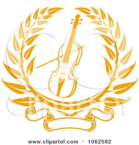 Clipart Violin Or Viola Laurel - Royalty Free Vector Illustration by Vector Tradition SM