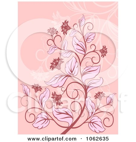 Clipart Pink Floral Background 2 - Royalty Free Vector Illustration by Vector Tradition SM