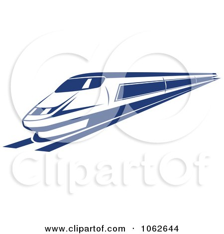 Clipart Blue Subway Train 2 - Royalty Free Vector Illustration by Vector Tradition SM