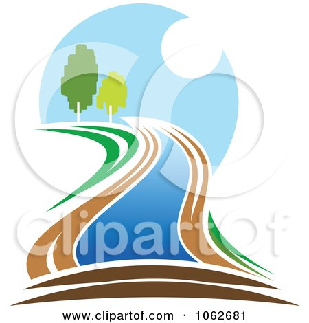Clipart Nature And River Logo 4 - Royalty Free Vector Illustration by Vector Tradition SM