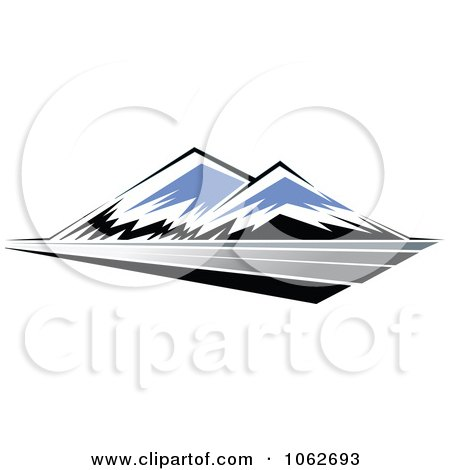 Clipart Mountain Logo 5 - Royalty Free Vector Illustration by Vector Tradition SM