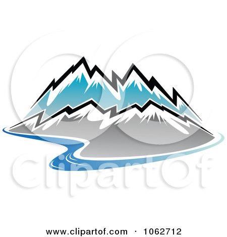 Clipart Mountain Logo 1 - Royalty Free Vector Illustration by Vector Tradition SM