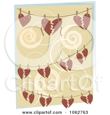 Clipart Hearts And Strings On Wires - Royalty Free Vector Illustration by mheld