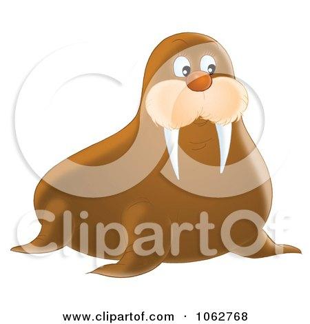 Clipart Walrus - Royalty Free Illustration by Alex Bannykh