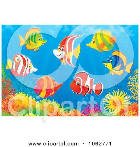 Royalty Free Rf Clipart Of Aquatic Animals