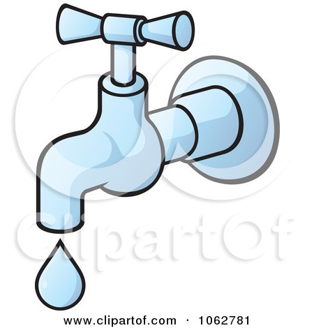 Clipart Faucet Dripping - Royalty Free Vector Illustration by Any Vector