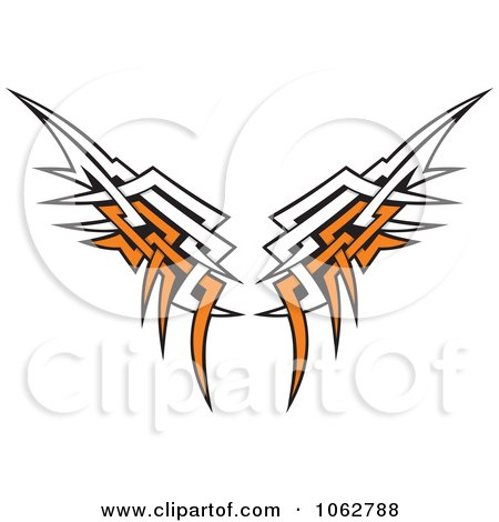 Clipart Tribal Wings - Royalty Free Vector Illustration by Any Vector