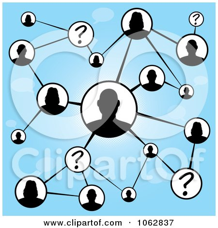 Clipart Social Networking People Connected 1 - Royalty Free Illustration by Arena Creative