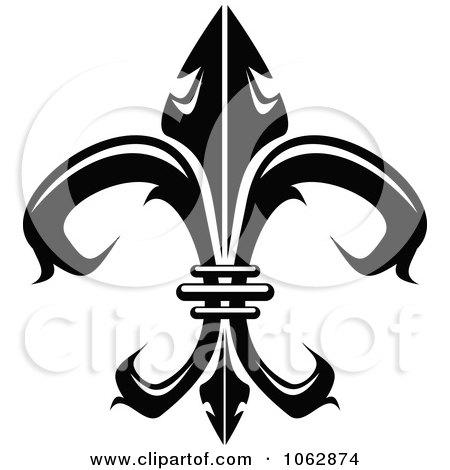 Clipart Fleur De Lis Design Element 1 - Royalty Free Vector Illustration by Vector Tradition SM