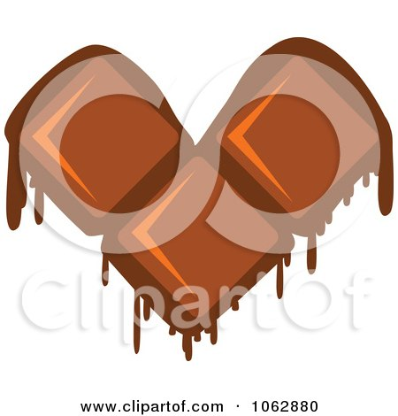 Clipart Melting Chocolate Heart - Royalty Free Vector Illustration by Vector Tradition SM
