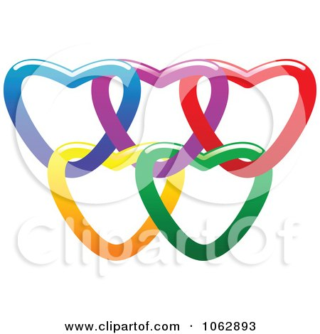 Clipart Rings Of Hearts 2 - Royalty Free Vector Illustration by Vector Tradition SM