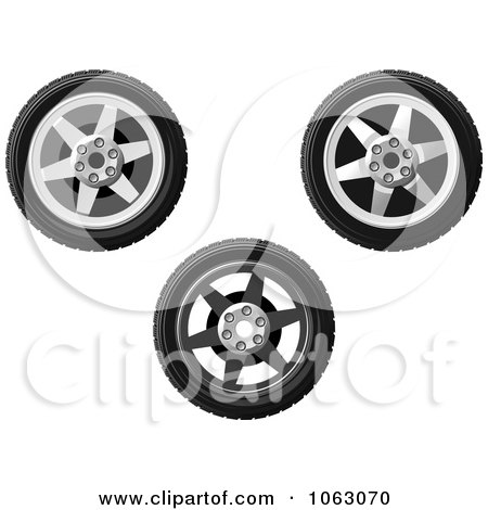Clipart Wheels Digital Collage - Royalty Free Vector Illustration by Vector Tradition SM