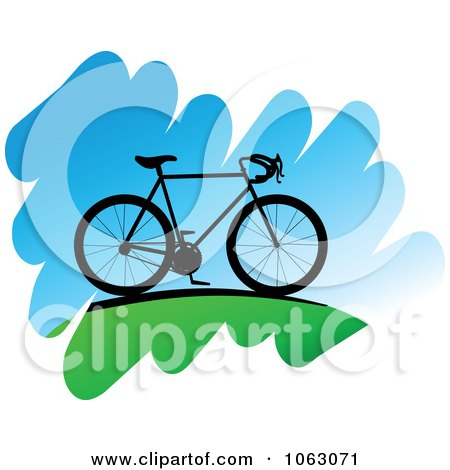 Clipart Bicycle On A Hill - Royalty Free Vector Illustration by Vector Tradition SM