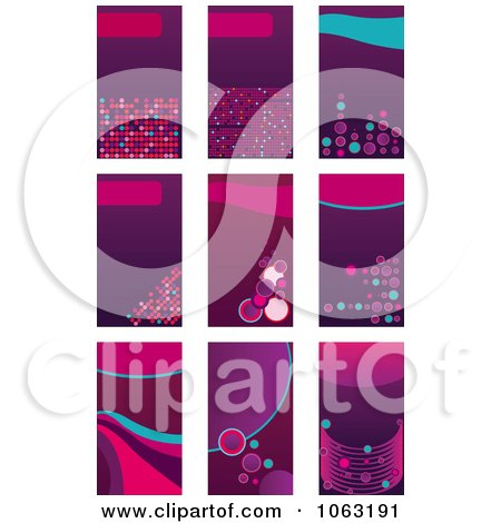 Clipart Abstract Business Card Backgrounds Digital Collage 5 - Royalty Free Vector Illustration by Vector Tradition SM