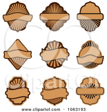 Clipart Blank Labels Digital Collage 11 - Royalty Free Vector Illustration by Vector Tradition SM