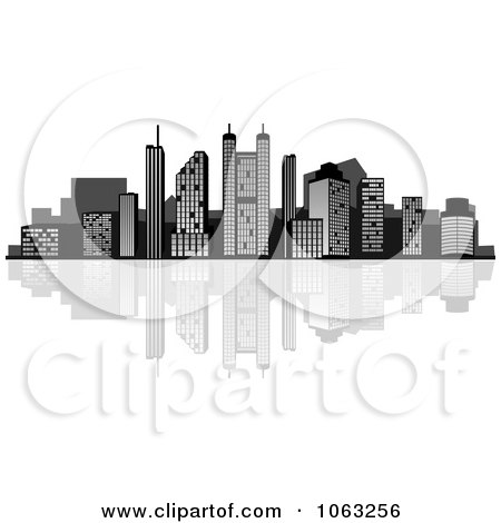 Clipart Waterfront City Skyline 4 - Royalty Free Vector Illustration by Vector Tradition SM