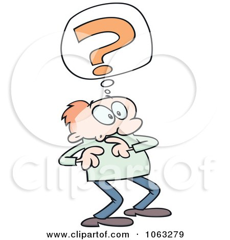 Clipart Confused Toon Guy - Royalty Free Vector Illustration by gnurf