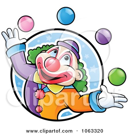 Clipart Juggling Clown Logo - Royalty Free Vector Illustration by TA Images