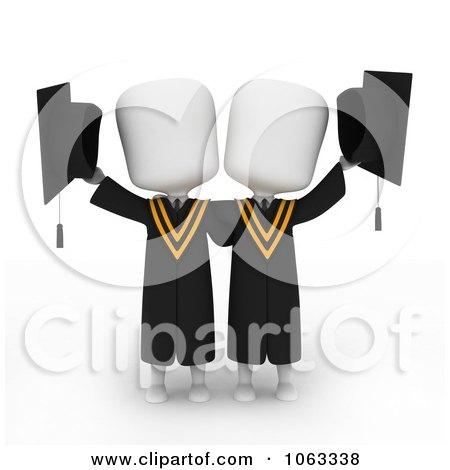 Clipart 3d Ivory College Graduates - Royalty Free CGI Illustration by BNP Design Studio