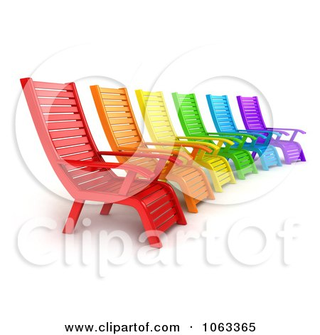 Clipart 3d Colorful Lounge Chairs - Royalty Free CGI Illustration by BNP Design Studio