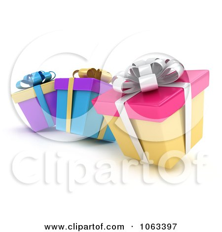 Clipart 3d Gift Boxes - Royalty Free CGI Illustration by BNP Design Studio
