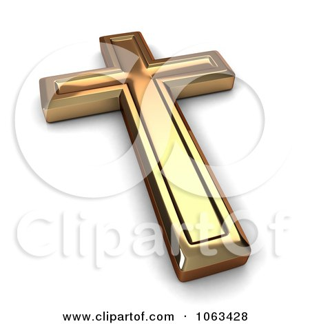 Clipart 3d gold cross royalty free cgi illustration by for Architect 3d gold