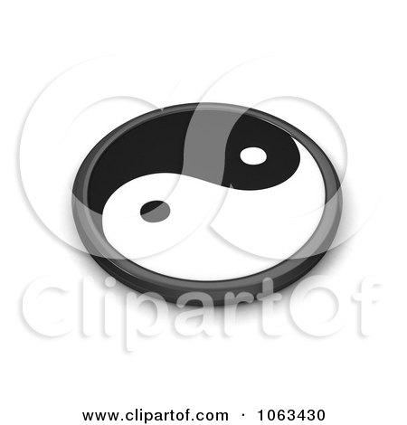 Clipart 3d Taoism Yin Yang - Royalty Free CGI Illustration by BNP Design Studio