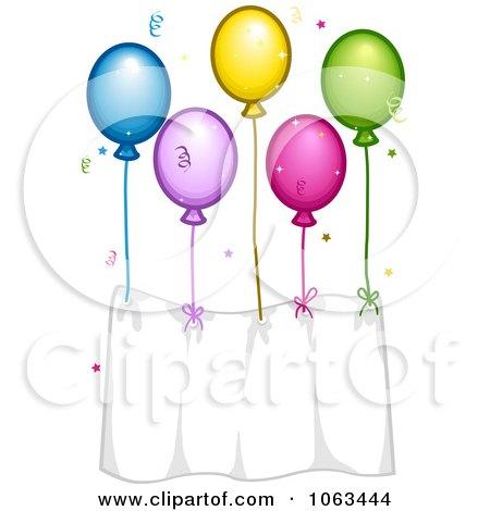 Clipart Birthday Balloon Banner - Royalty Free Vector Illustration by BNP Design Studio