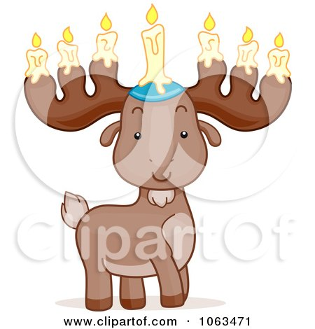 Clipart Passover Moose - Royalty Free Vector Illustration by BNP Design Studio