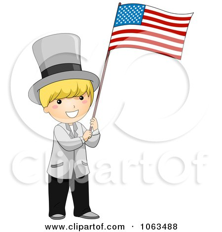 Clipart USA Independence Day Boy - Royalty Free Vector Illustration by BNP Design Studio