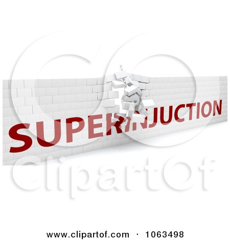 Clipart 3d Crumbling Superinjuction Wall - Royalty Free CGI Illustration by KJ Pargeter