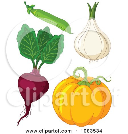Pea, Onion, Beet And Pumpkin Digital Collage Posters, Art Prints