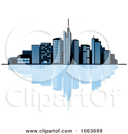 Clipart Waterfront City Skyline 1 - Royalty Free Vector Illustration by Vector Tradition SM