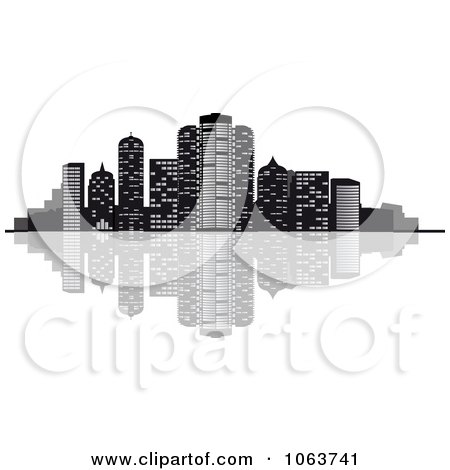 Clipart Waterfront City Skyline 2 - Royalty Free Vector Illustration by Vector Tradition SM