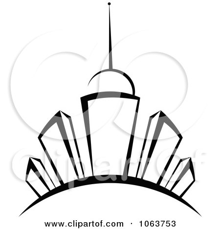 Clipart Black And White Skyscraper Logo 4 - Royalty Free Vector Illustration by Vector Tradition SM