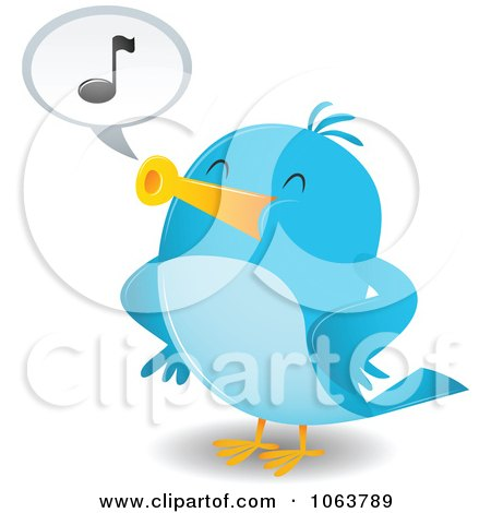 Royalty Free Rf Whistling Bird Clipart Illustrations