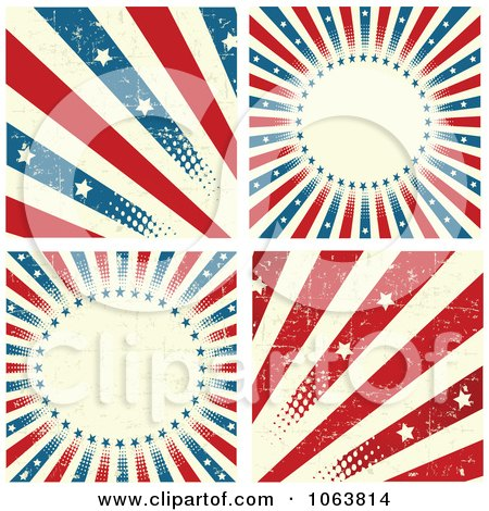 Clipart Grungy American Backgrounds - Royalty Free Vector Illustration by Pushkin