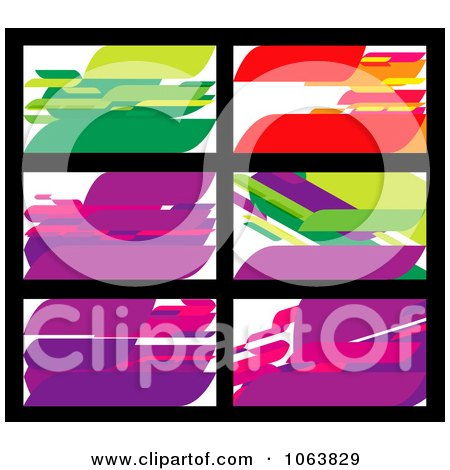 Clipart Abstract Business Card Backgrounds Digital Collage 3 - Royalty Free Vector Illustration by Vector Tradition SM
