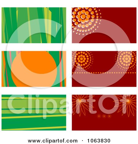 Clipart Abstract Business Card Backgrounds Digital Collage 1 - Royalty Free Vector Illustration by Vector Tradition SM